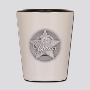 25 Years Shot Glass